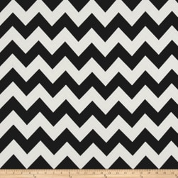 Dobby Crepe Chevron Black/Off-White Fabric