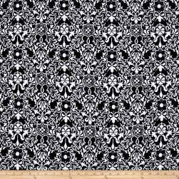 Peachskin Flourish Black/White Fabric