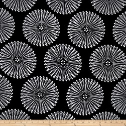 Peachskin Dots Black/White Fabric