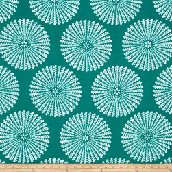 Peachskin Dots Green/White Fabric