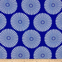 Peachskin Dots Royal/White Fabric