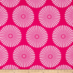 Peachskin Dots Magenta/White Fabric