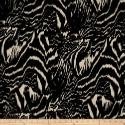 Peachskin Prints Abstract Black/Taupe Fabric