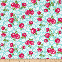 Riley Blake Dainty Darling Main Aqua Fabric