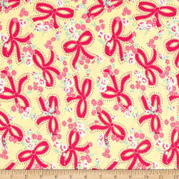 Riley Blake Dainty Darling Bows Yellow Fabric