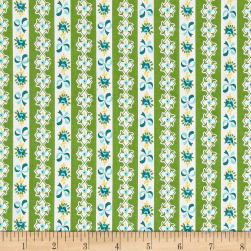 Riley Blake Dainty Darling Stripe Green Fabric
