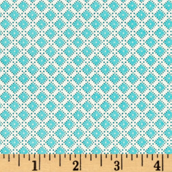 Riley Blake Dainty Darling Diamonds Aqua