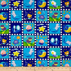 Sanja Rescek Rhyme Time Nursery Patch Blue Fabric