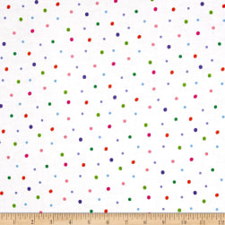 Sanja Rescek Rhyme Time Dots White Fabric
