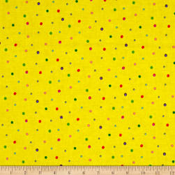 Sanja Rescek Rhyme Time Dots Yellow Fabric