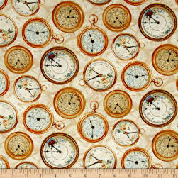 Bookshop Clocks Ivory Fabric