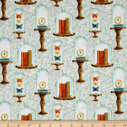 Bookshop Bell Jars Ivory Fabric