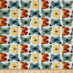 Bookshop Large Butterflies Ivory Fabric
