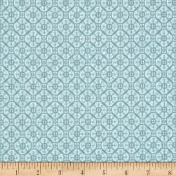 Gloria Circle Geo Blue Fabric