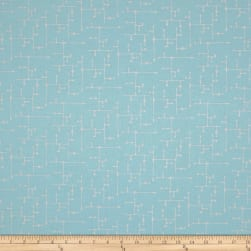 Gloria Star Grid Blue Fabric