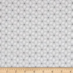 Magical Moments Silver Metallic Attached Stars White Fabric