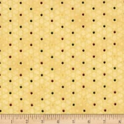 Magical Moments Gold Metallic Attached Stars Beige Fabric