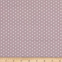 Magical Moments Silver Metallic Dotted Circles Peach Fabric