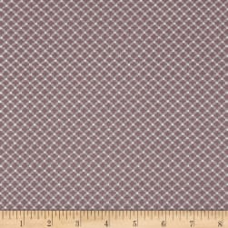 Magical Moments Silver Metallic Dotted Grid Peach Fabric