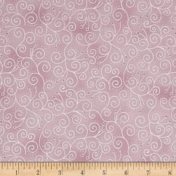 Magical Moments Silver Metallic Viney Design Peach Fabric