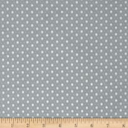 Magical Moments Silver Metallic Dotted Circles Green Fabric