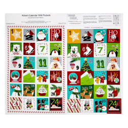 "Sarah Frederking A Christmas Wish 36"" Advent Calendar Red"