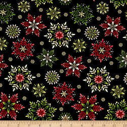 Art Loft Holiday Flair Metallic Snowflakes Black