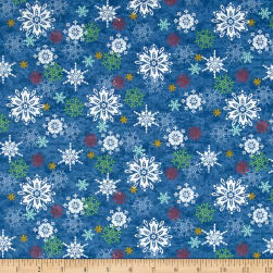 Sharla Fults Winter Joy Snowflake Blue Fabric