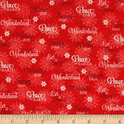 Sharla Fults Winter Joy Winter Words Red Fabric