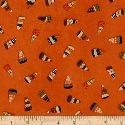 DT-K Signature Witchy Candy Corn Orange Fabric