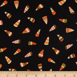 DT-K Signature Witchy Candy Corn Black Fabric