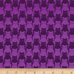 Yolanda Fundora Kitty Kitty Tonal Cat Purple