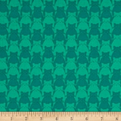 Yolanda Fundora Kitty Kitty Tonal Cat Teal Fabric