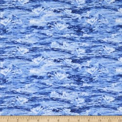 Natural Treasures 2 Ocean Waves Blue Fabric
