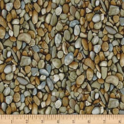 Natural Treasures 2 Stones Grey Fabric