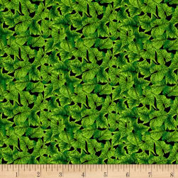 Lennie Honcoop Prairie Gate Leaves Green Fabric