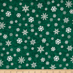 Gina Linn A Time Of Wonder Snowflakes Green