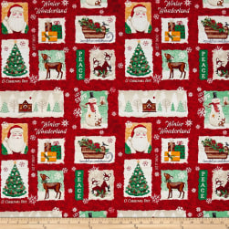 Gina Linn A Time Of Wonder Christmas Patch Red