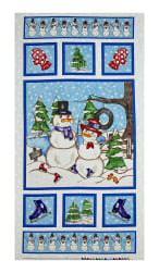 Western Denim & Dirt Flaky Friends Snowmen 23