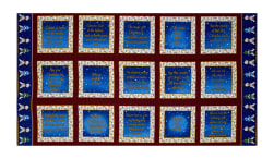 Silent Night Blocks 24'' Panel Blue Fabric
