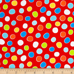 Diane Eichler Swingin' Safari Dot Red Fabric