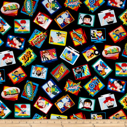 Sarah Frederking Super Heroes Televisions Black Fabric