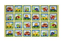 "Jungle Camp Boxes 24"" Panel Yellow/Multi"