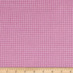 Local Color Yarn Dyed Flannels Houndstooth Pink Fabric