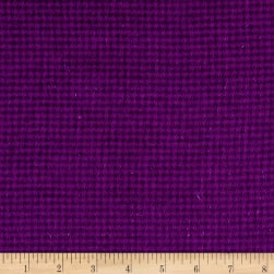 Local Color Yarn Dyed Flannels Houndstooth Purple Fabric