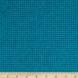Local Color Yarn Dyed Flannels Houndstooth Turquoise Fabric