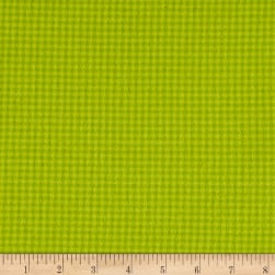 Local Color Yarn Dyed Flannels Houndstooth Lime Fabric