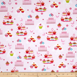 Cupcake Cafe Cake Stands Pink Fabric
