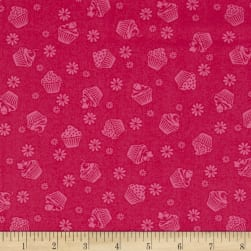 Cupcake Cafe Tone On Tone Pink Fabric
