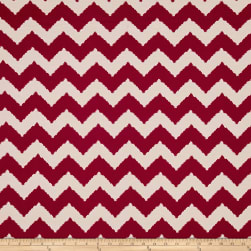 ITY Stretch Knit Abstract Chevron Red/Beige Fabric